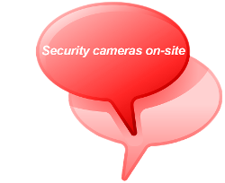 Security cameras on-site